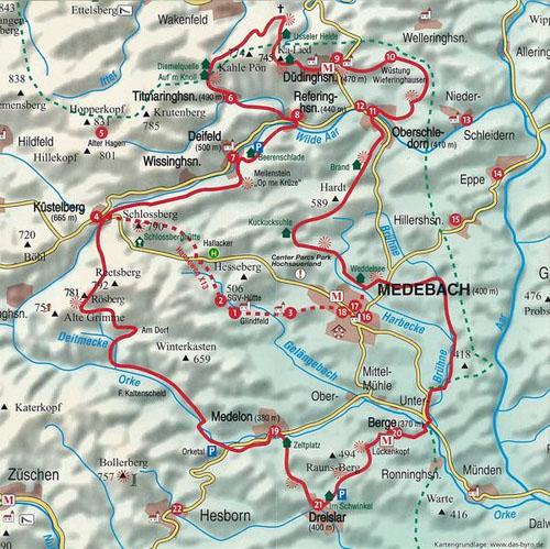 Sauerland Karte Berge.Erlebnisdorf Dudinghausen